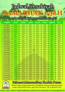Jadwal Imsakiyah Aceh Singkil 2015